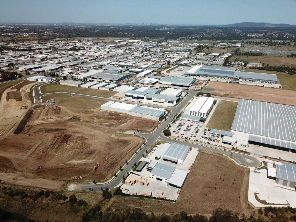 New Base Industrial Estate - aerial