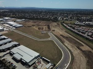 New Base Industrial Estate - aerial side